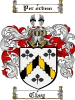 Primary image for Clay Family Crest / Coat of Arms JPG or PDF Image Download