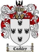 Primary image for Coakley Family Crest / Coat of Arms JPG or PDF Image Download