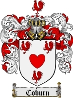 Primary image for Coburn Family Crest / Coat of Arms JPG or PDF Image Download