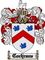 Primary image for Cochrane Family Crest / Coat of Arms JPG or PDF Image Download