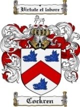 Cockren Family Crest / Coat of Arms JPG or PDF Image Download - $6.99
