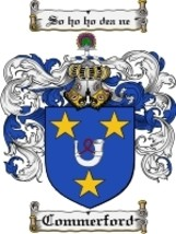 Commerford Family Crest / Coat of Arms JPG or PDF Image Download - $6.99
