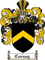 Primary image for Cornay Family Crest / Coat of Arms JPG or PDF Image Download