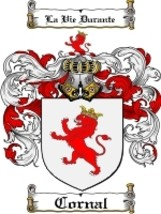 Cornal Family Crest / Coat of Arms JPG or PDF Image Download - $6.99