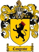 Cosgrove Family Crest / Coat of Arms JPG or PDF Image Download