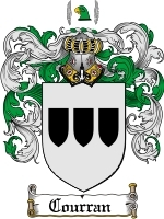 Primary image for Courran Family Crest / Coat of Arms JPG or PDF Image Download