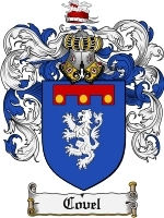 Primary image for Covel Family Crest / Coat of Arms JPG or PDF Image Download