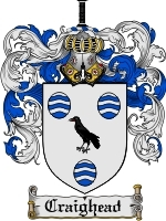 Primary image for Craighead Family Crest / Coat of Arms JPG or PDF Image Download