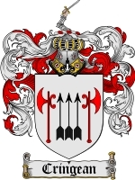 Primary image for Cringean Family Crest / Coat of Arms JPG or PDF Image Download
