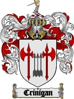 Crinigan Family Crest / Coat of Arms JPG or PDF Image Download