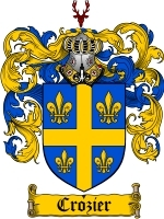 Crozier Family Crest / Coat of Arms JPG or PDF Image Download