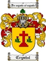 Crystal Family Crest / Coat of Arms JPG or PDF Image Download - $6.99