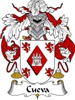 Primary image for Cueva Family Crest / Coat of Arms JPG or PDF Image Download