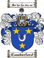 Cumberford Family Crest / Coat of Arms JPG or PDF Image Download