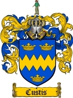 Primary image for Custis Family Crest / Coat of Arms JPG or PDF Image Download