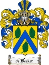 Debecker Family Crest / Coat of Arms JPG or PDF Image Download - $6.99