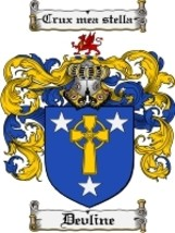Devline Family Crest / Coat of Arms JPG or PDF Image Download - $6.99
