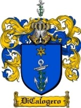 Dicalogero Family Crest / Coat of Arms JPG or PDF Image Download - $6.99