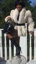 Mint Designer white cream Fox & Mink Fur Coat Jacket, Bolero, Stroller S-M 2-10 - $1,499.99