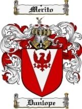 Dunlope Family Crest / Coat of Arms JPG or PDF Image Download - $6.99
