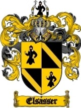Elsasser Family Crest / Coat of Arms JPG or PDF Image Download - $6.99