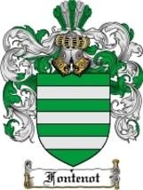 Fontenot Family Crest / Coat of Arms JPG or PDF Image Download - $6.99