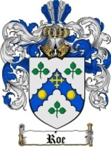 Roe Family Crest / Coat of Arms JPG or PDF Image Download - $6.99