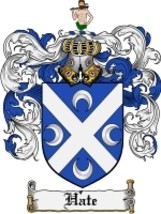 Hate Family Crest / Coat of Arms JPG or PDF Image Download - $6.99