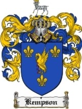 Kempson Family Crest / Coat of Arms JPG or PDF Image Download - $6.99