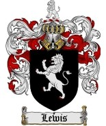 Lewis Family Crest / Coat of Arms JPG or PDF Image Download - $6.99