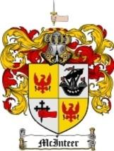 Mcinteer Family Crest / Coat of Arms JPG or PDF Image Download - $6.99