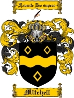 Mitchell Family Crest / Coat of Arms JPG or PDF Image Download