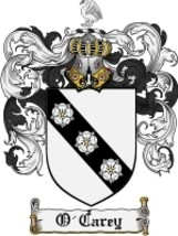O'Carey Family Crest / Coat of Arms JPG or PDF Image Download - $6.99