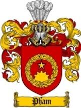 Pham Family Crest / Coat of Arms JPG or PDF Ima... - $6.99