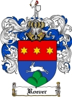 Roever Family Crest / Coat of Arms JPG or PDF Image Download
