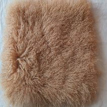 Real Camel Mongolian Lamb Fur Sofa Pillowcase Tibetan Pillow Cushion Cov... - $32.00+