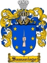 Samaniego Family Crest / Coat of Arms JPG or PDF Image Download - $6.99