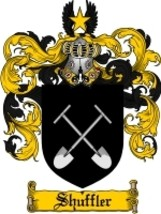 Shuffler Family Crest / Coat of Arms JPG or PDF Image Download - $6.99