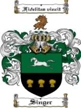Singer Family Crest / Coat of Arms JPG or PDF Image Download - $6.99