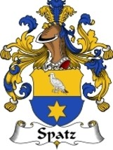 Spatz Family Crest / Coat of Arms JPG or PDF Image Download - $6.99