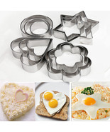 12Pcs/Set Stainless Steel Cookie Fondant Cake Mold Fruit Vegetable Cutte... - $7.50