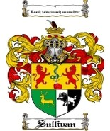 Sullivan Family Crest / Coat of Arms JPG or PDF Image Download - $6.99