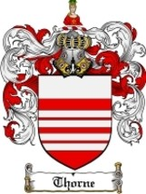 Thorne Family Crest / Coat of Arms JPG or PDF Image Download - $6.99