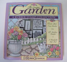 The Country Garden Lot/12 Rubber Stamps Collection Rubber Stampede Flowe... - $8.59