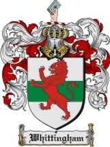 Whittingham Family Crest / Coat of Arms JPG or PDF Image Download - $6.99