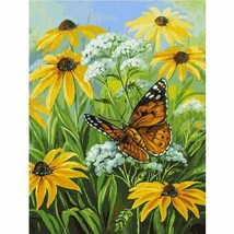 "Daisy Flower 16X20"" Paint By Number Kit DIY Acrylic Painting on Canvas U... - $9.59"