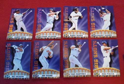 Fleer Ultra Baseball Big Shots Lot Of 8 Cards