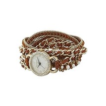 Ainsley Wrap Watch in Tan and Gold [Jewelry]