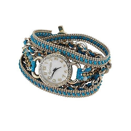 Ainsley Wrap Watch W Turquoise Thread [Jewelry]
