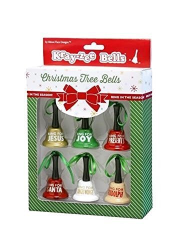 Christmas Tree Bells Ornament Set of Six [Office Product]